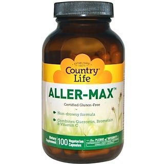 Country Life, Aller-Max, 100 вегетарианских капсул