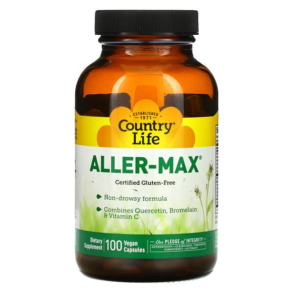 Country Life, Aller-Max, 100 Vegetarian Capsules