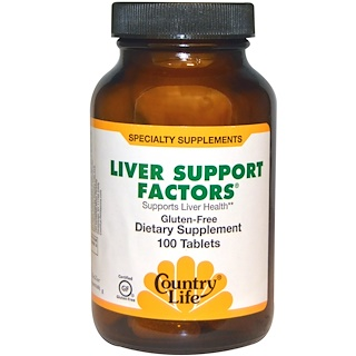 Country Life, Liver Support Factors, 100 веганских капсул