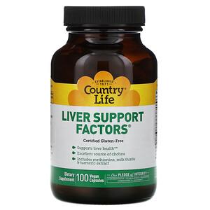 Кантри Лайф, Liver Support Factors, 100 Vegan Capsules отзывы покупателей