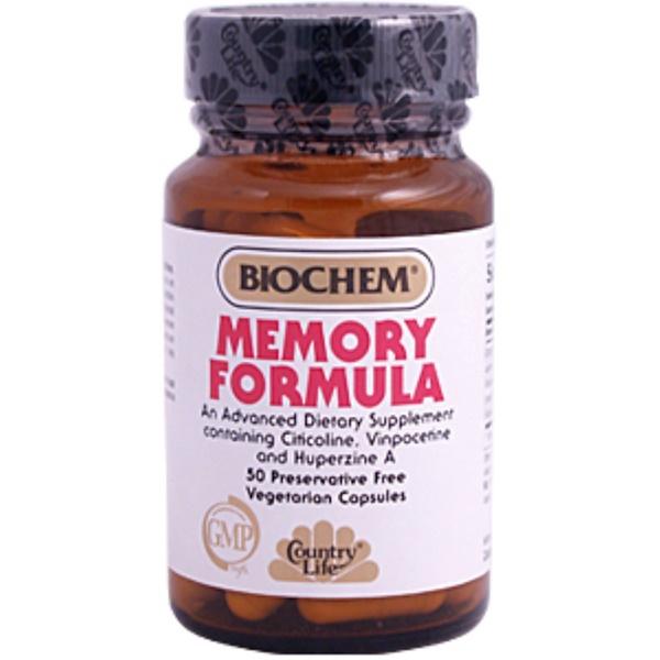 Country Life, BioChem, Memory Formula, 50 Veggie Caps (Discontinued Item)