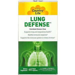 Country Life, Lung Defense, 60 Vegan Capsules'