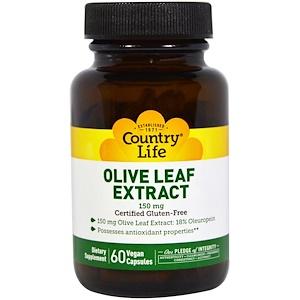 Кантри Лайф, Olive Leaf Extract, 150 mg, 60 Veggie Caps отзывы