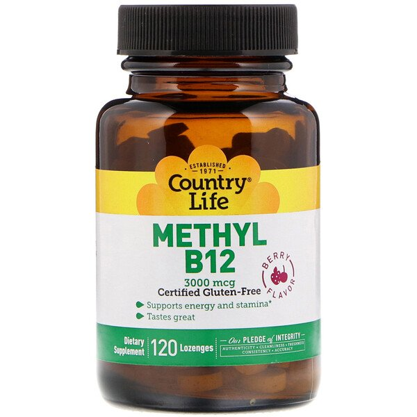 Methyl B12, Berry, 3,000 mcg, 120 Lozenges