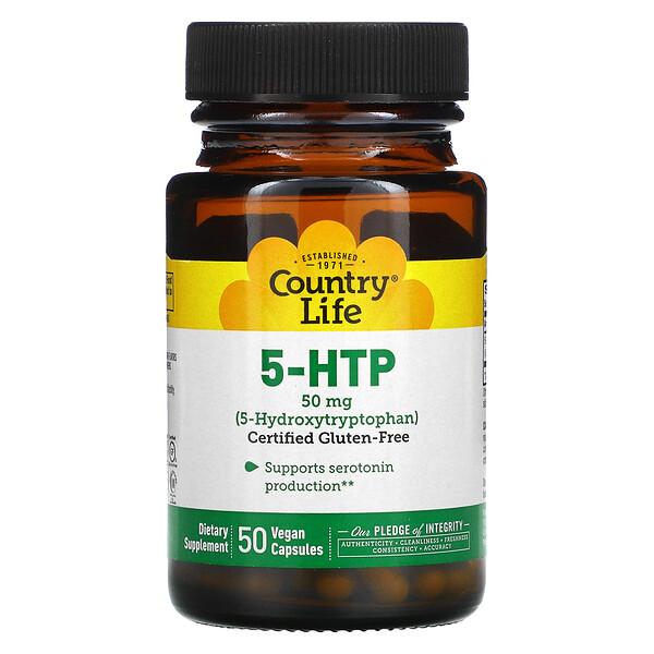 5-HTP, 50 mg, 50 Vegan Capsules
