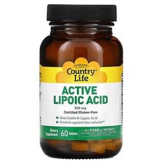 Country Life, Active Lipoic Acid, 300 mg, 60 Tablets