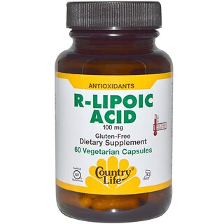 Country Life, R-Lipoic Acid, 100 mg, 60 Veggie Caps