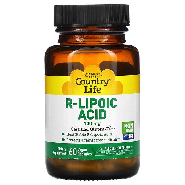 R-Lipoic Acid, 100 mg, 60 Vegan Capsules