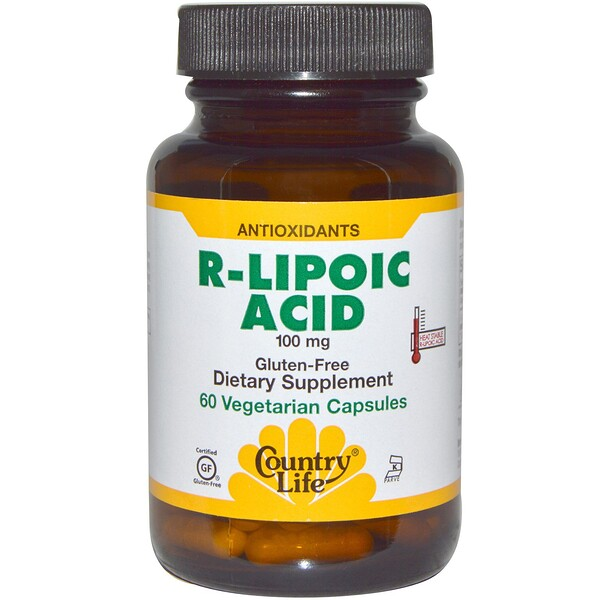 Country Life, R-Lipoic Acid, 100 mg, 60 Vegetarian Capsules
