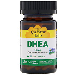 Country Life, DHEA、10 mg、50ベジカプセル