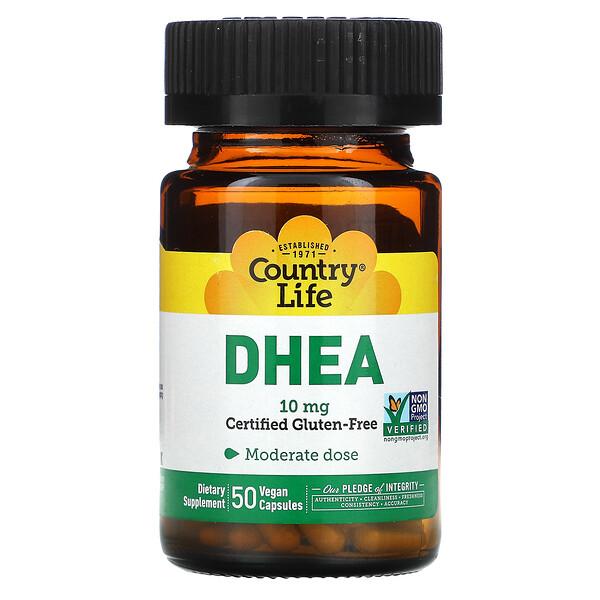 DHEA, 10 mg, 50 Vegan Capsules