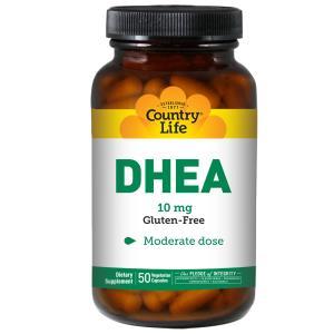 Country Life, ДГЭА, 10 мг, 50 растительных капсул