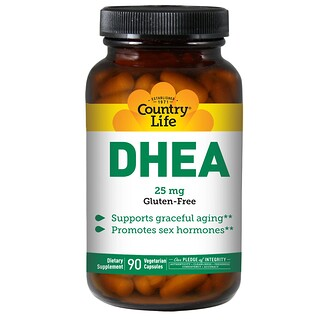 Country Life, DHEA, 25 mg, 90 Vegetarian Capsules