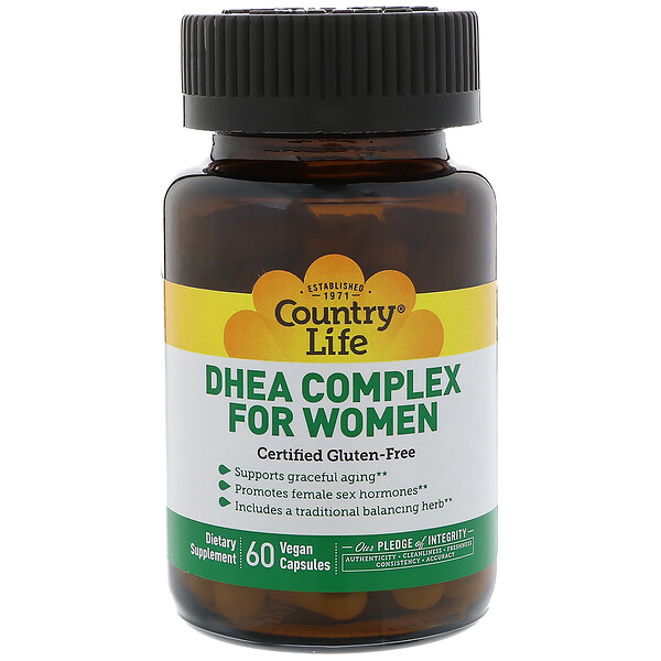 Country Life, DHEA Complex, For Women, 60 Gélules végétales