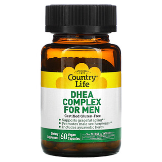 Country Life, DHEA Complex for Men, 60 Vegan Capsules