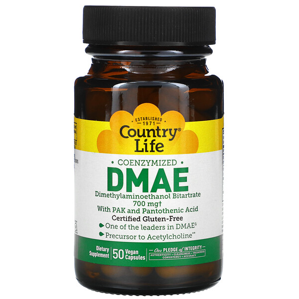 Coenzymized DMAE, 700 mg, 50 Vegan Capsules