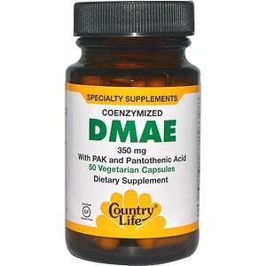 Кантри Лайф, Coenzymized DMAE, 350 mg, 50 Vegetarian Capsules отзывы