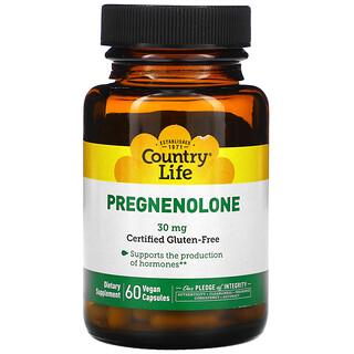 Country Life, Pregnenolone, 30 mg, 60 Vegan Capsules