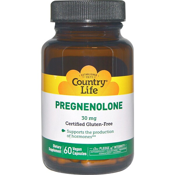 Country Life, Pregnenolone, 30 mg, 60 vegetarische Kapseln