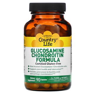Country Life, Fórmula de glucosamina condroitina, 90 cápsulas