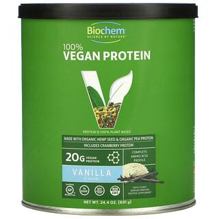Biochem, بروتين نباتي 100%، بالفانيليا، 24.4 أونصة (691 جم)