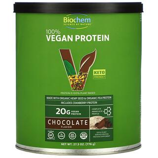 Biochem, بروتين نباتي 100%، بالشيكولاتة، 27.3 أونصة (776 جم)