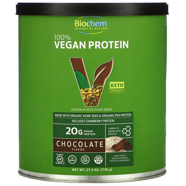 Biochem, 100% Vegan Protein, Chocolate, 27.3 oz (776 g)