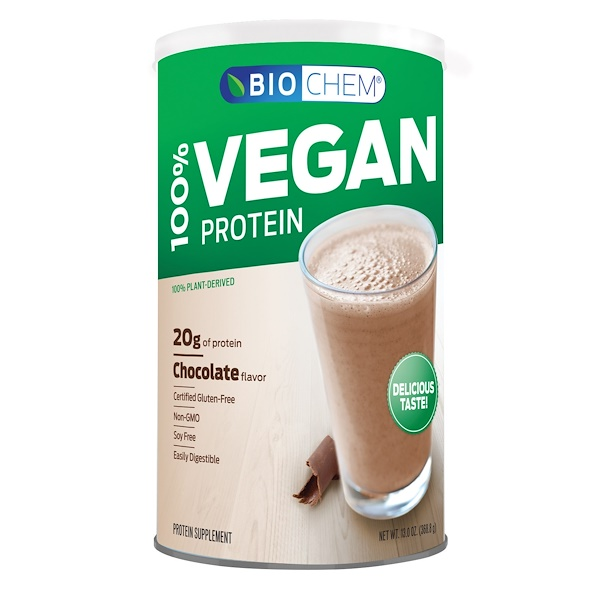 Country Life, BioChem, 100% Vegan Protein, Chocolate Flavored, 13 oz (369 g) (Discontinued Item)