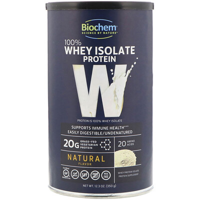 Купить 100% Whey Isolate Protein, Natural Flavor, 12.3 oz (350 g)