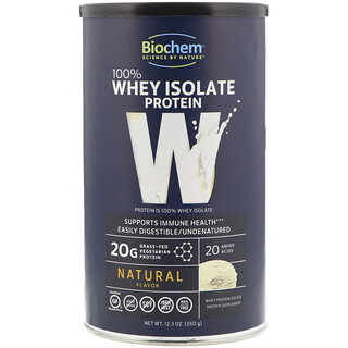 Biochem, 100% Whey Isolate Protein, Natural Flavor, 12.3 oz (350 g)