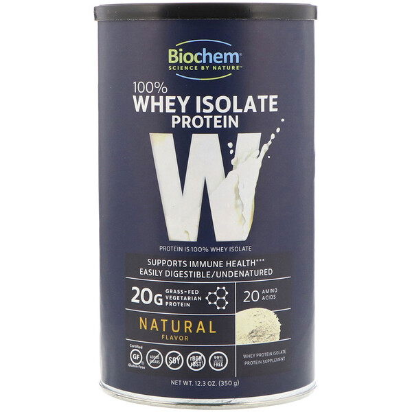 Biochem, 100% Whey Isolate Protein, Natural, 12.3 oz (350 g)