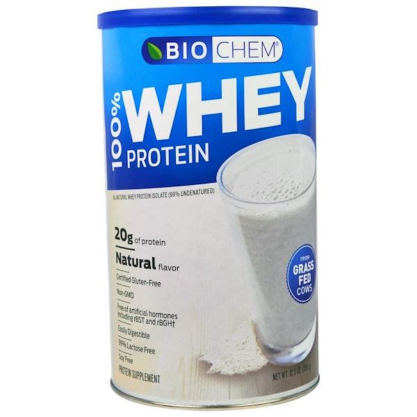 Country Life, カントリーライフ, グルテンフリー, BioChem, 100%乳清タンパク質, 自然な風味, 12.3オンス(350 g)