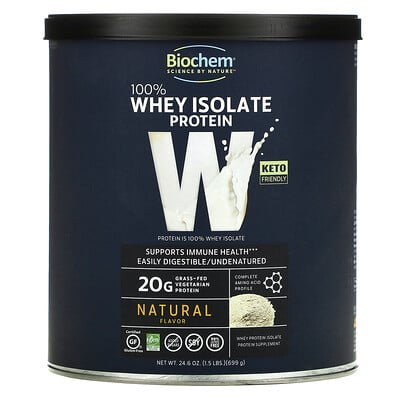 Biochem 100% Whey Isolate Protein, Natural, 24.6 oz (699 g)  - купить со скидкой