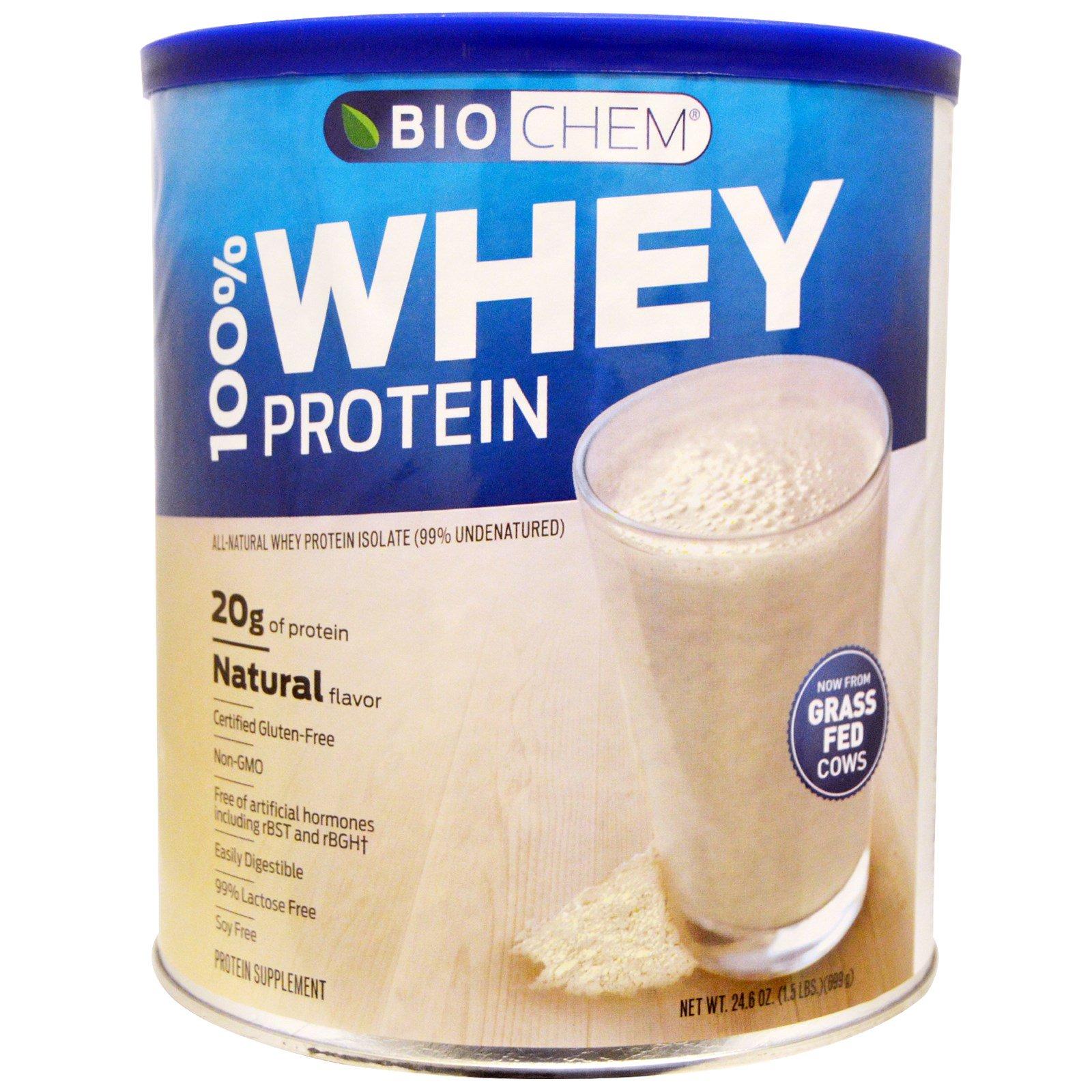 Country Life, BioChem, 100% сывороточный белок, с натуральным вкусом, 24,6 унции (699 г)