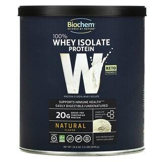 Biochem, بروتين معزول من شرش اللبن 100%، طبيعي، 24.6 أونصة (699 جم)