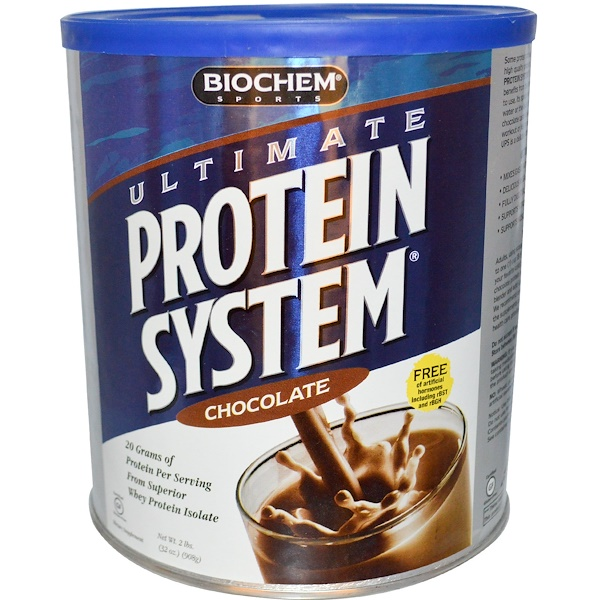 Country Life, BioChem Sports, Ultimate Protein System, Chocolate, 32 oz (908 g) (Discontinued Item)