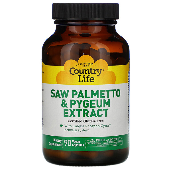 Saw Palmetto & Pygeum Extract, 90 Vegan Capsules