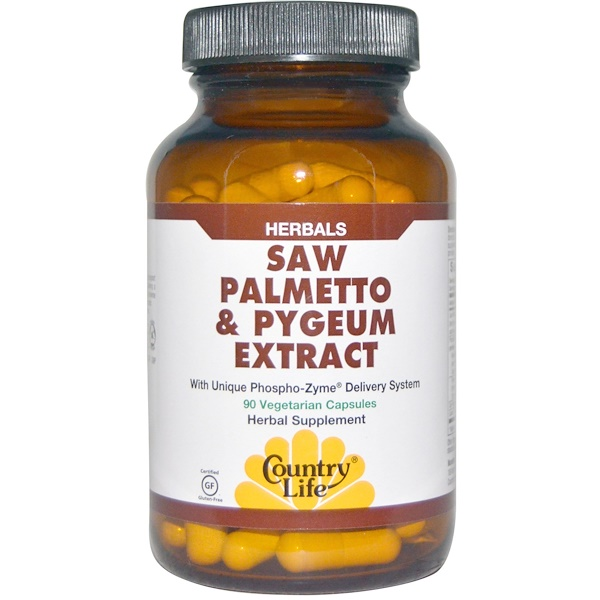 Country Life, Saw Palmetto & Pygeum Extract, 90 Vegetarian Capsules