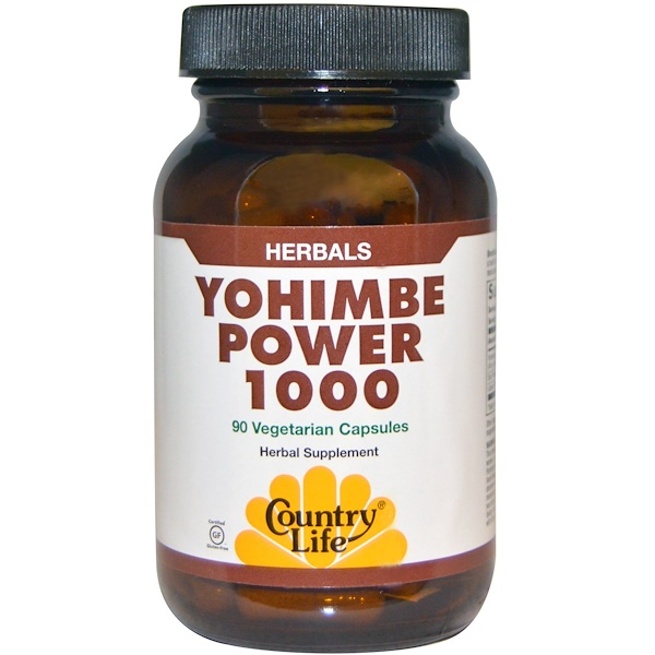 Country Life, Yohimbe Power 1000, 90 Veggie Caps (Discontinued Item)
