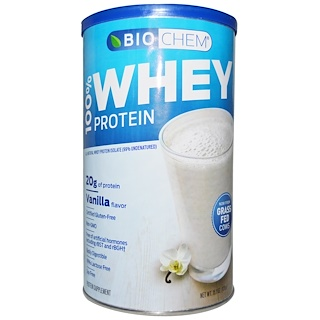 Country Life, BioChem, 100% Whey Protein Powder, Vanilla, 15.1 oz (428 g)