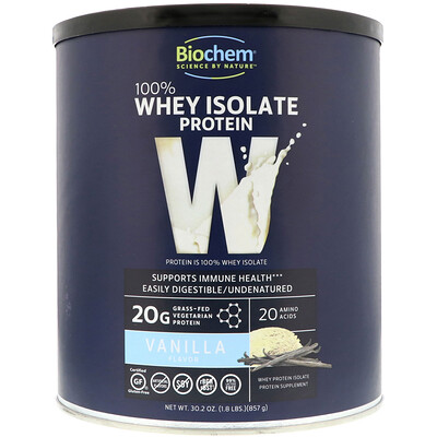 Купить 100% Whey Isolate Protein, Vanilla, 30.2 oz (857 g)