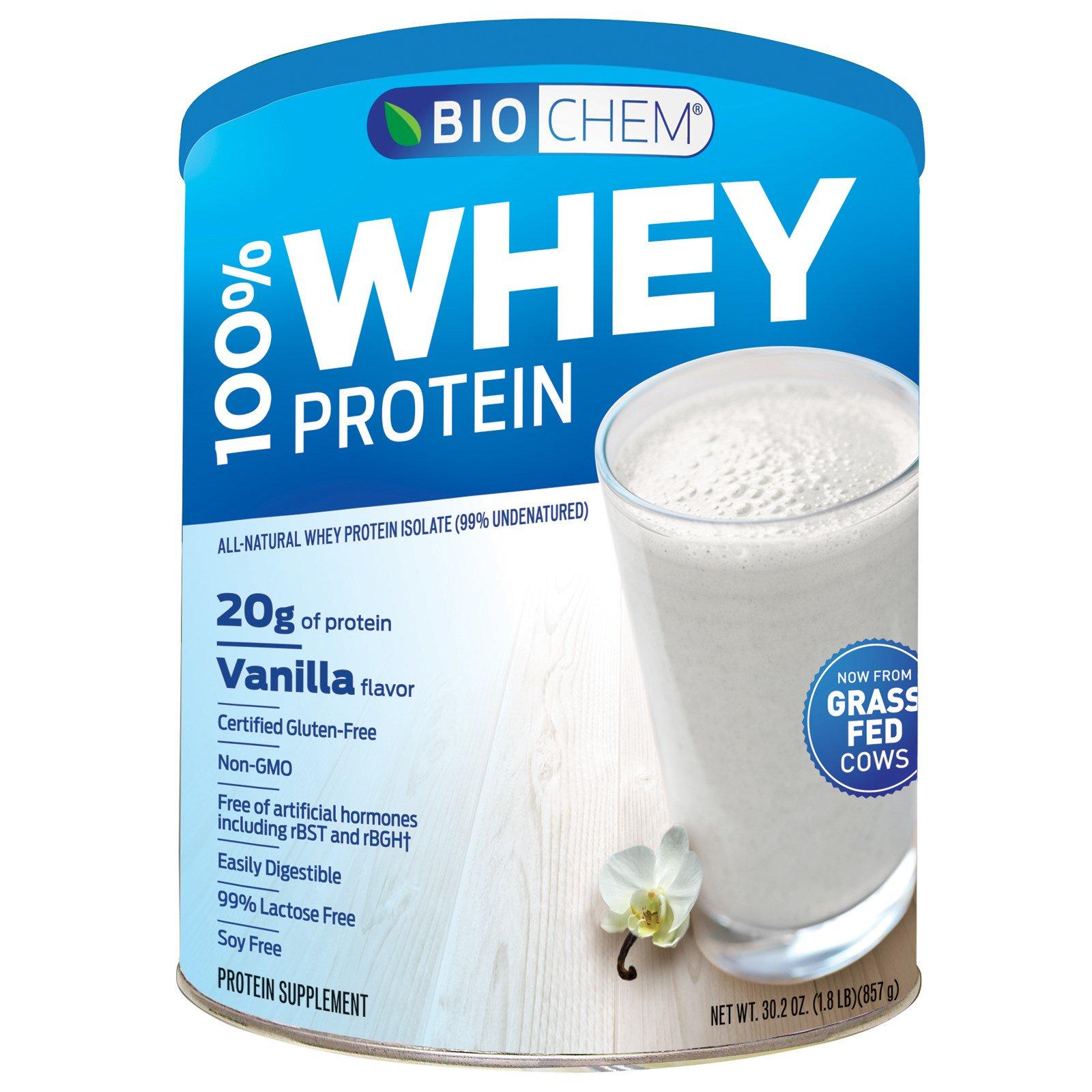 Country Life, BioChem, 100% сывороточный белок, порошок, со вкусом ванили, 30,2 унции (857 г)