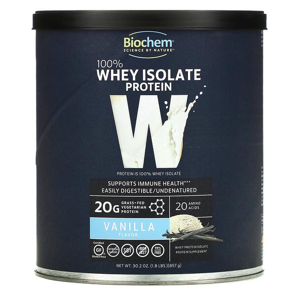 100% Whey Isolate Protein, Vanilla, 30.2 oz (857 g)