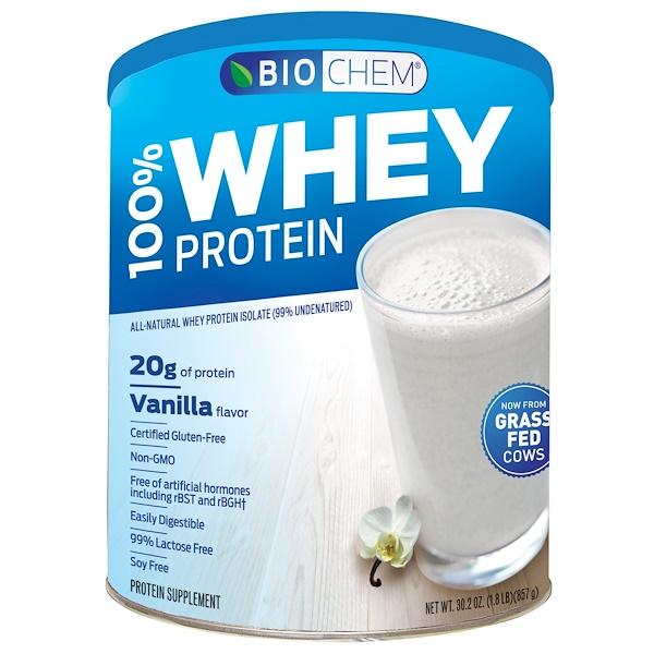 Country Life, BioChem, 100% Whey Protein, Powder, Vanilla, 30.2 oz (857 g)
