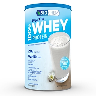 Country Life, Biochem, 100% Whey Protein, Sugar Free, Vanilla, 11.8 oz (336 g)
