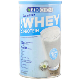 Biochem, 100% Whey Protein, Sugar Free, Vanilla, 11.8 oz (336 g)