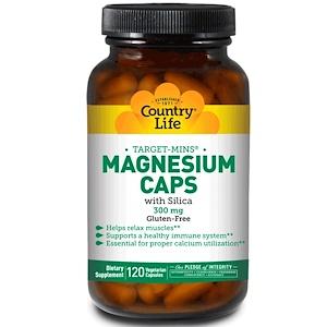 Кантри Лайф, Target-Mins Magnesium Caps with Silica, 300 mg, 120 Vegetarian Capsules отзывы покупателей