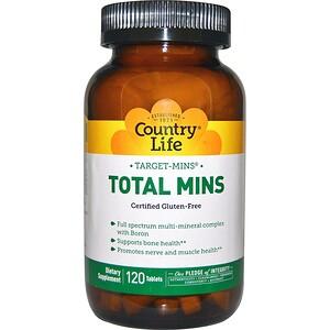 Кантри Лайф, Target-Mins Total Mins, 120 Tablets отзывы