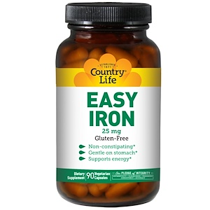 Кантри Лайф, Easy Iron, 25 mg, 90 Vegetarian Capsules отзывы