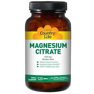 Country Life, سترات الماغنسيوم ٢٥٠ ملى غرام ١٢٠ قرص